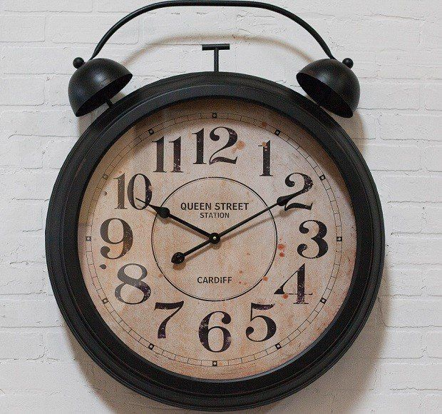 Clocks - Decor Objects: HUGE Wall Clock With Alarm Bells | Oversized ...