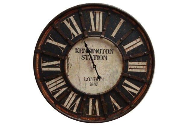 Large 1887 Kensington Station Clock - From Antiquefarmhouse.com - www.antiquefar...