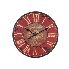 Large Red Wooden Clock    $36.00 @ antiquefarmhouse....