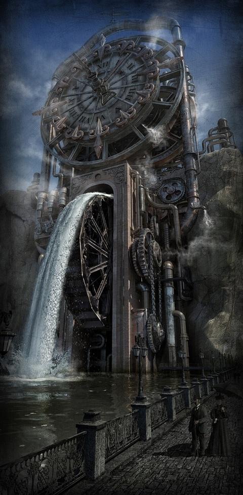 Clocks Decor Steampunk Clocktower Decor Object