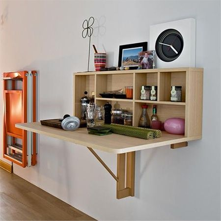 Decor diy inspiration fold away small space compact dining table for eat in kitchen decor - Diy small space storage decoration ...