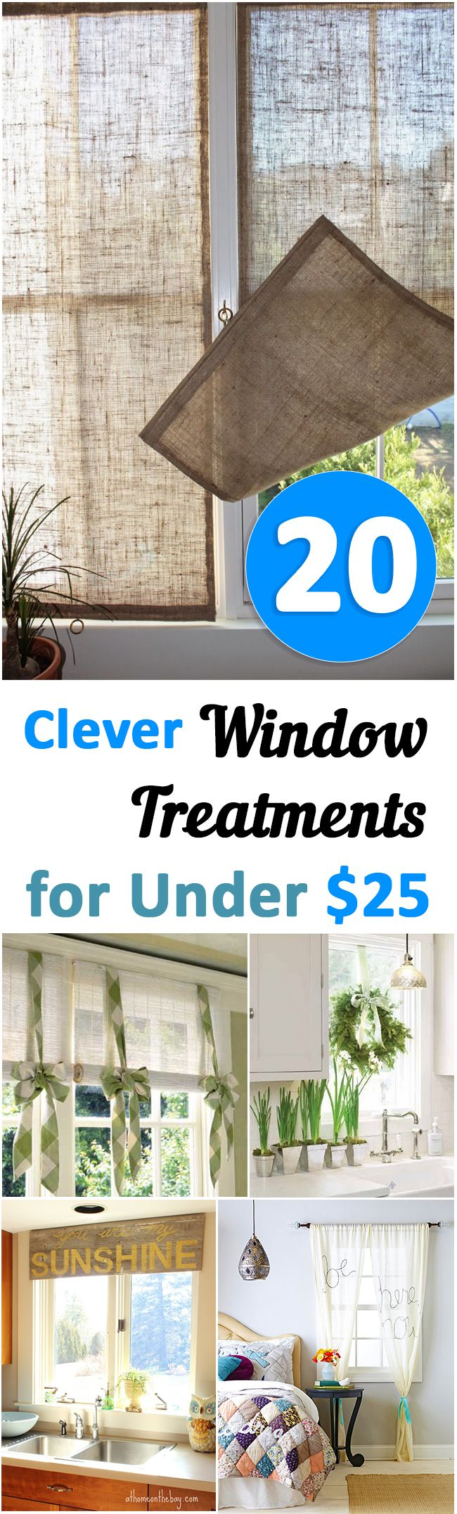 Decor Hacks 20 Clever Window Treatments For Under 25 Great Ideas Projects And Tutorials