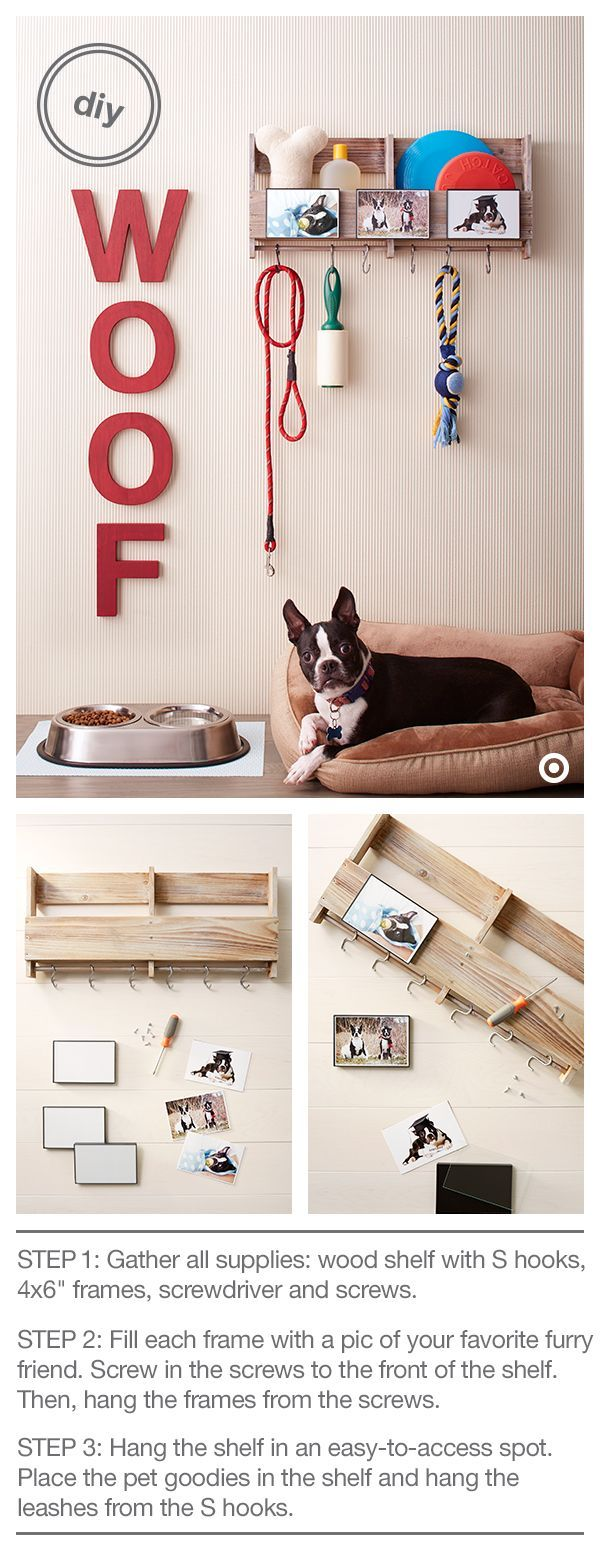 Ahhh....puppy love! Treat your pooch (and yourself) to a cute and useful DIY pet...