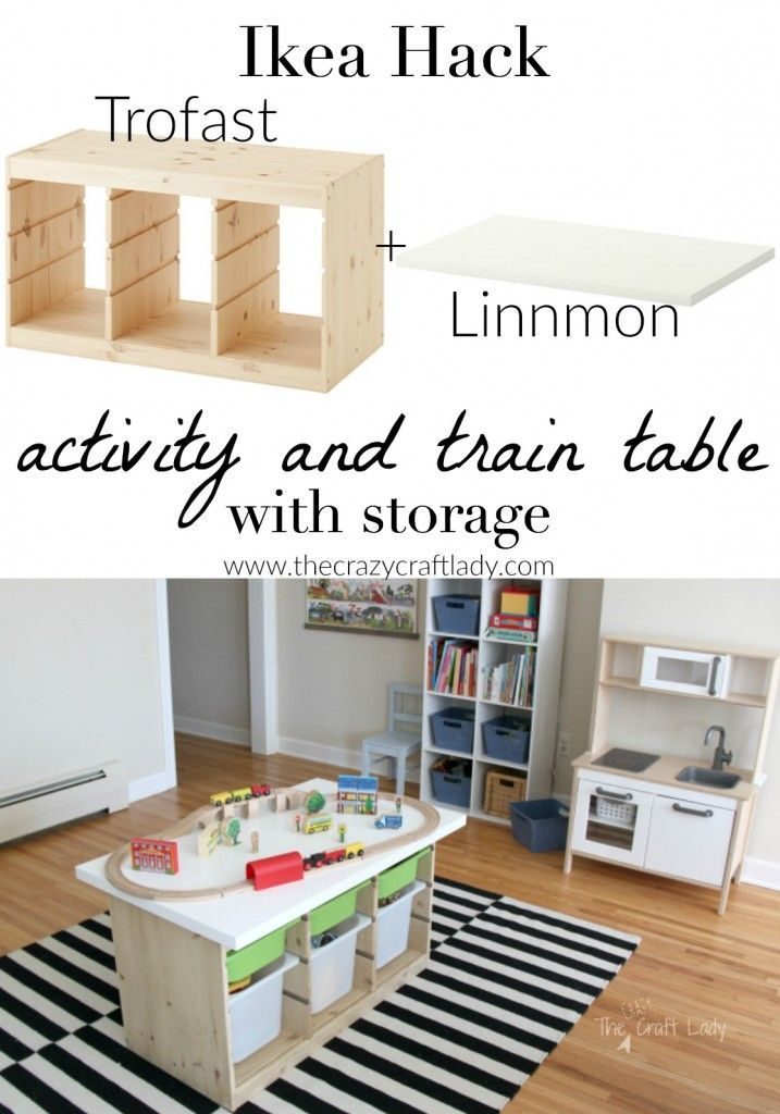 Decor hacks an ikea hack custom train and activity table with tons of stora - Customiser table ikea ...