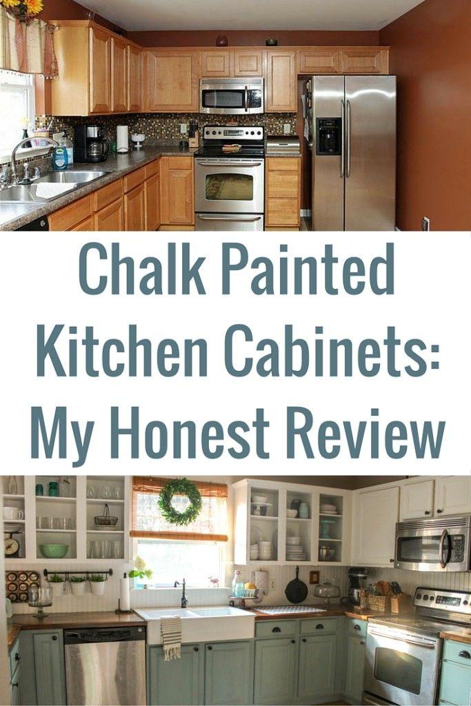 Decor hacks chalk painted kitchen cabinets review for Kitchen design hacks