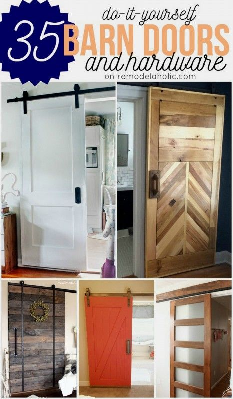 DIY Barn Doors - plus budget-friendly rolling door hardware options Remodelaholi...