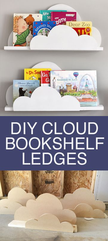 Decor Hacks Diy Cloud Bookshelf Ledges Decor Object