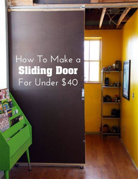 Decor Hacks Diy Home Decor How To Make A Sliding Door