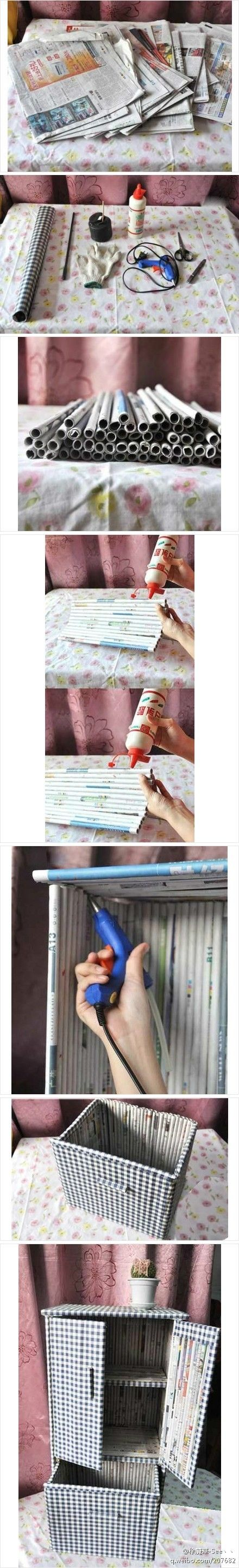 Decor Hacks Diy Newspaper Furniture Great Way To