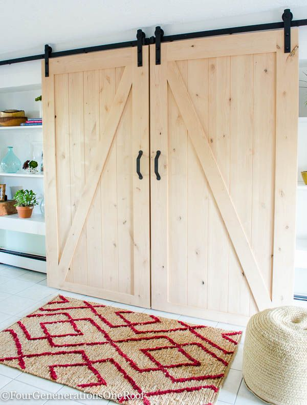 DIY sliding barn doors. Easy to install kit which includes all rolling door hard...