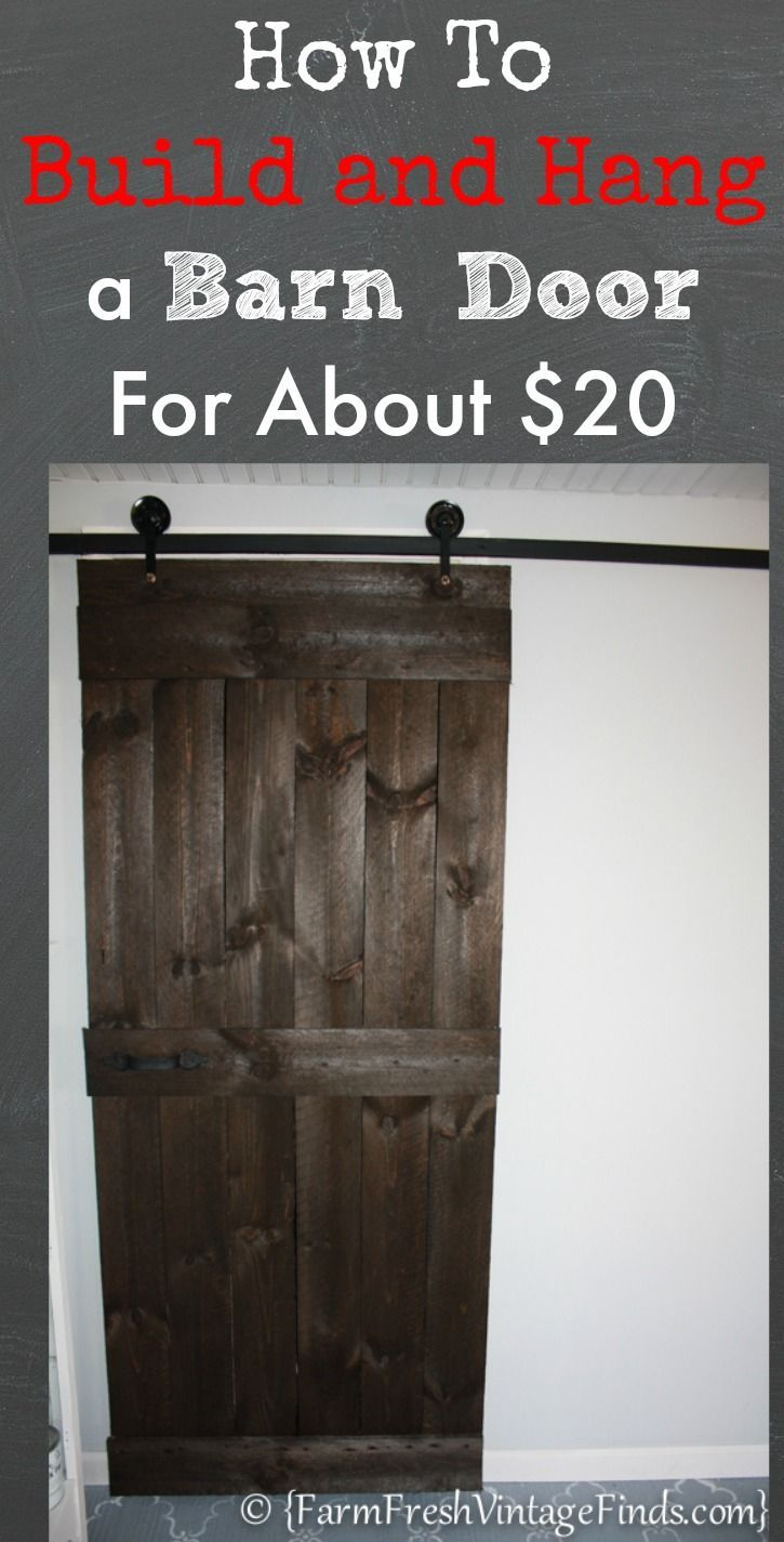 How to Build and Hang a Barn Door Cheaply...