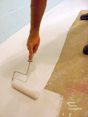 How to Paint a Cement Floor- might be handy for the storage room in the basement...