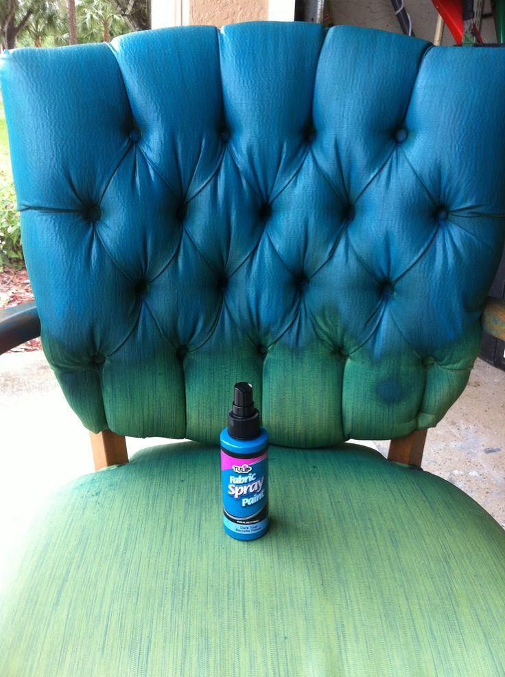 Tulip Fabric Spray Paint Chair