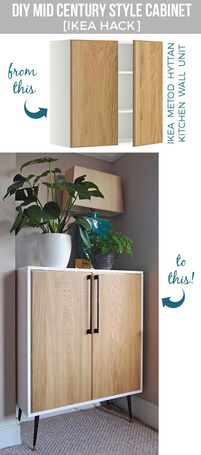 IKEA Hack - DIY midcentury inspired cabinet from METOD kitchen unit | by Arty Ho...