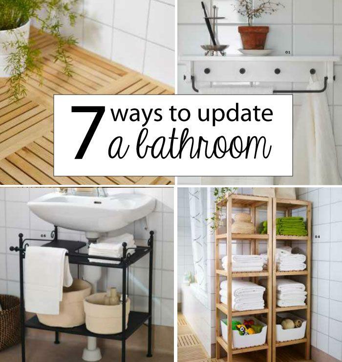 Decor Hacks 7 Ways To Update A Bathroom On A Budget