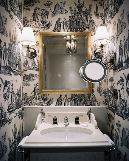 Little Room, Big Impact: Bold Paper in the Powder Room