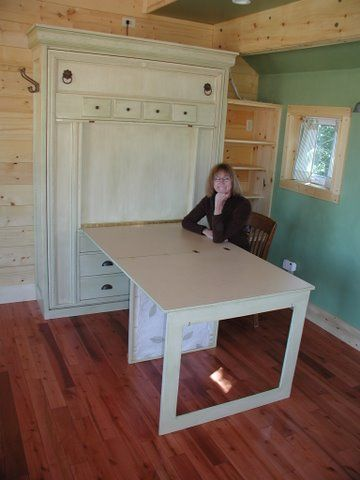 Decor Hacks Murphy Bed Table This Would Be Amazing In An Office That Doubled As A Guest Roo