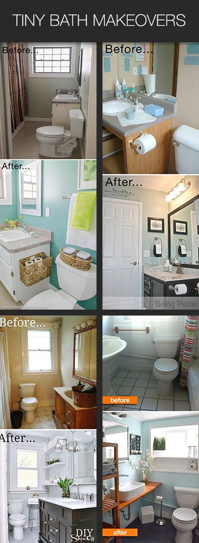 Small Bathroom Ideas & Makeovers