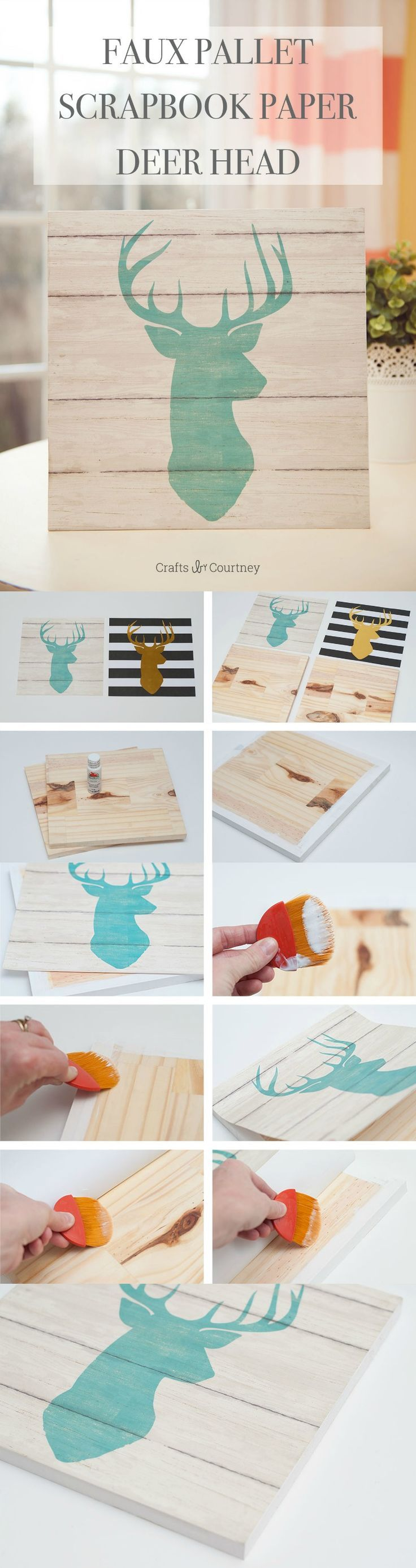 Decor hacks use cool scrapbook paper and cut pieces of Cool household hacks