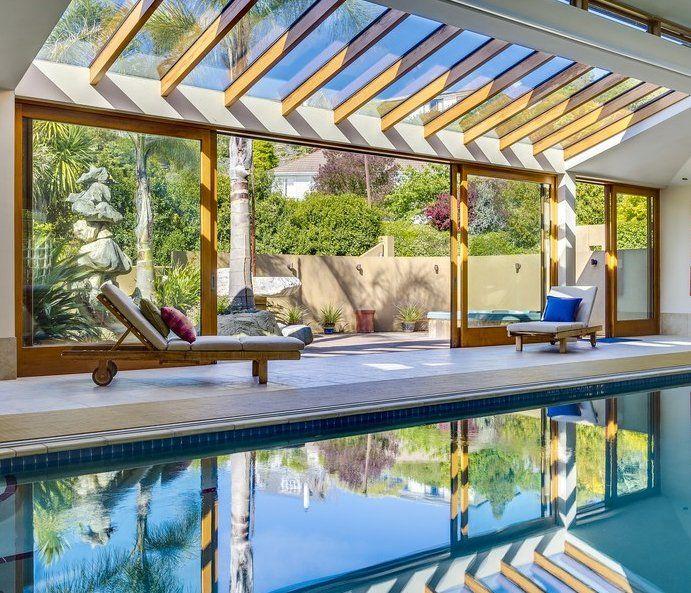 Great Indoor Outdoor Swimming Pool Backyard