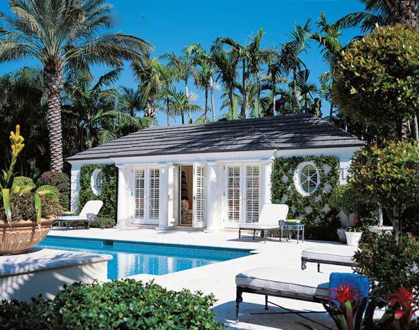 pool house...