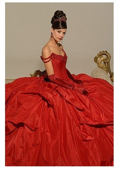 Discount Beaded V-Neck with Straps and Ball Gown Wine Red Taffeta Wedding Gown D...