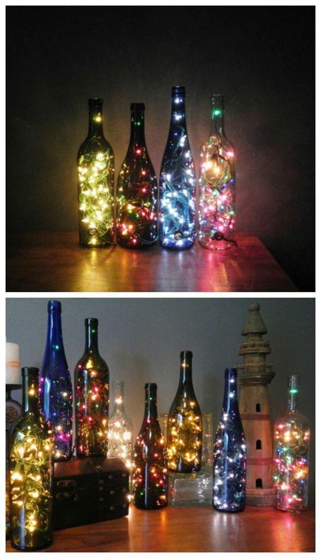 DIY Wine * Garrafas de vidro decoradas / Decoração / Reciclagem - Blog Pitacos...