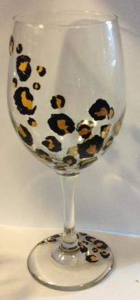 Decorative bottles leopard hand painted glass i need for Pool design by laly