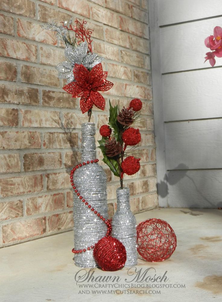 Wine Bottle DIY Christmas Decor | FaveCrafts.com...