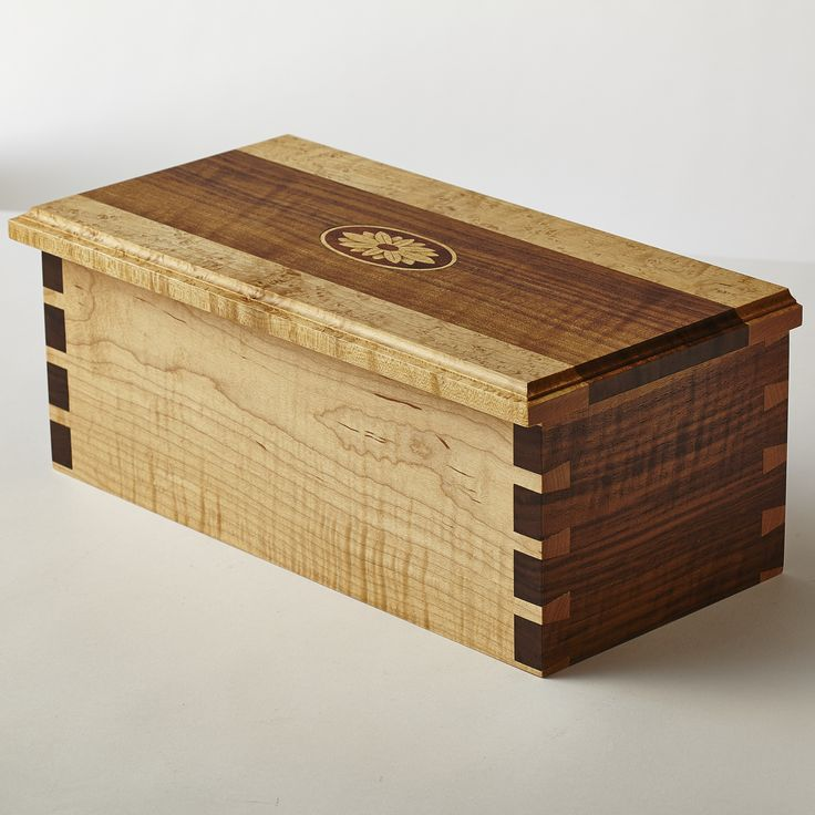 Decorative Boxes Curly Walnut And Curly Maple Box With