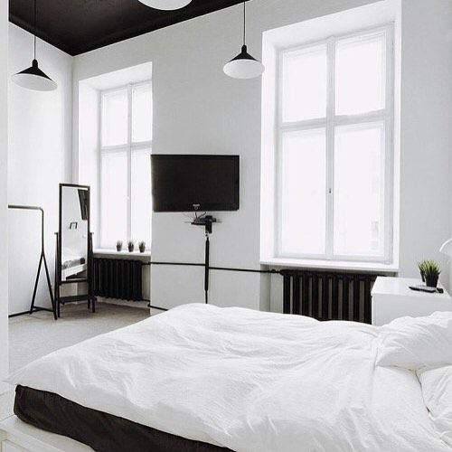 Furniture Bedrooms Black And White Bedroom Simple Harper And Mesmerizing Simple White Bedroom