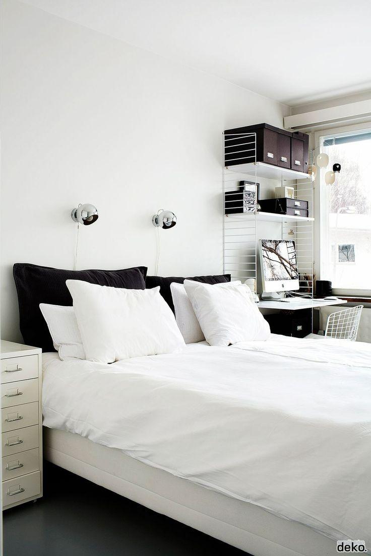Black White Bedroom | Scandinavian deko