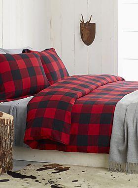 Buffalo check flannel duvet cover set - Duvet Covers & Comforters | Simons