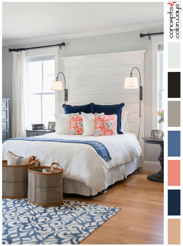 Furniture Bedrooms Country Cottage Style Bedroom With Color Palette Pantone Riverside Marine Blue