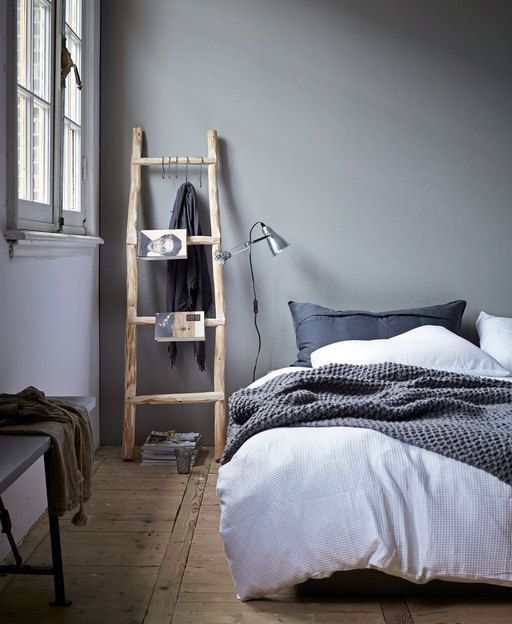 Ladder becomes night stand #vtwonen #bedroom #ladder by vtwonen | styling @Maria...