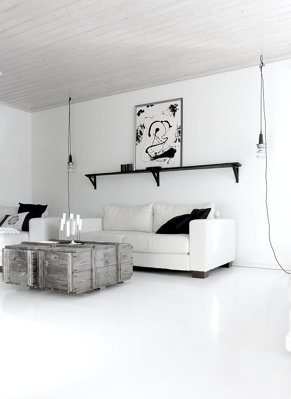 black and white living....