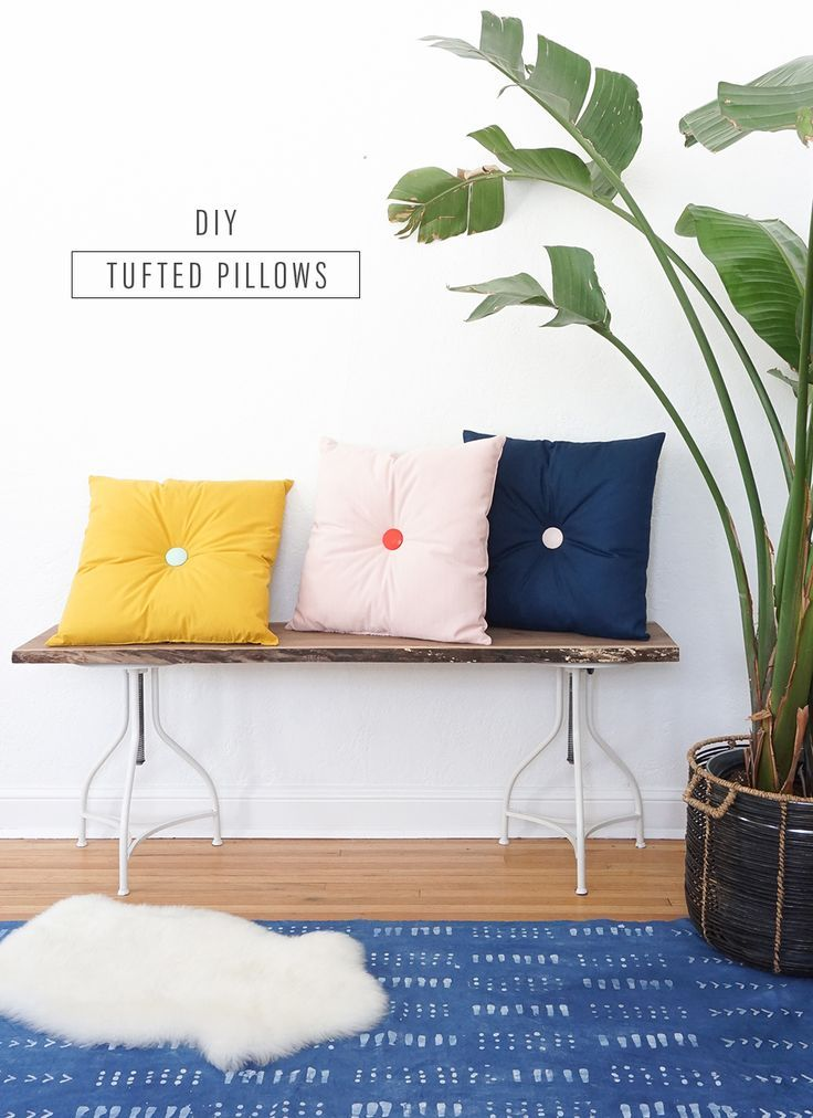 Home Decor DIY s : Colorful DIY Tufted Pillows... - Decor Object Your Daily dose of Best Home ...