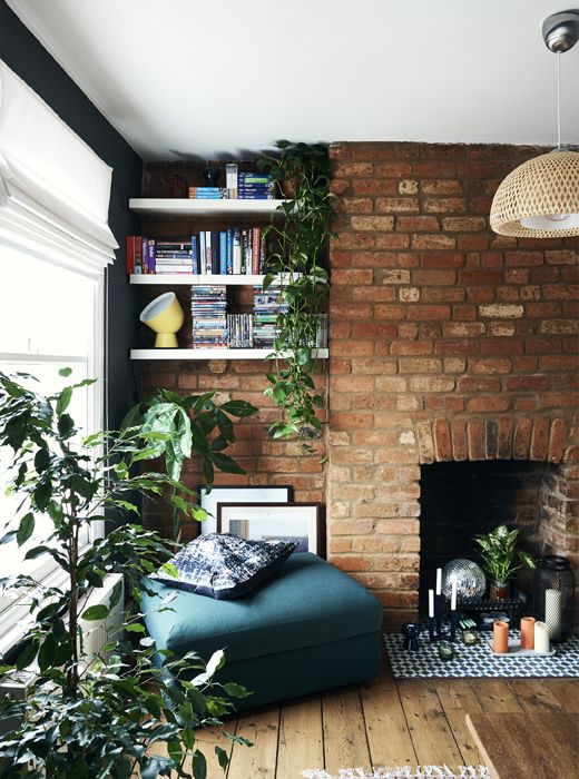 Home Decor U2013 Living Room : Bring Warmth And Personality To An Alcove Using  Greenery And Deep, Rich Coloursu2026