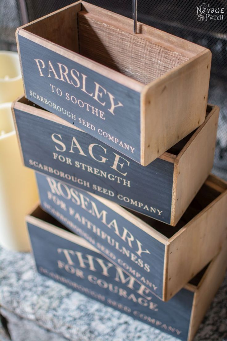 Home decorating diy projects diy nesting herb boxes diy for Diy decorative wood boxes
