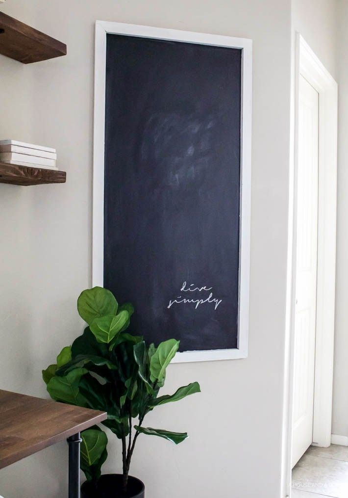 Home decorating diy projects easy diy chalkboard for less for Home design diy