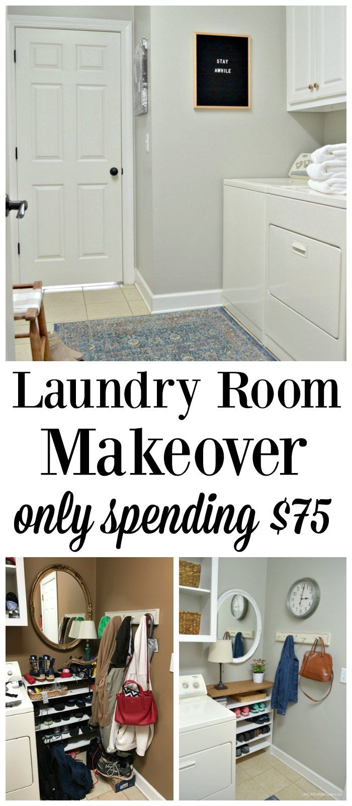 Home decorating diy projects laundry room makeover using for Room decor diy ideas 2017