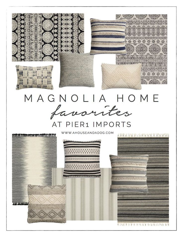 Magnolia Home Rugs + Pillows at Pier 1 Imports | Joanna Gaines | Fixer Upper Sty...