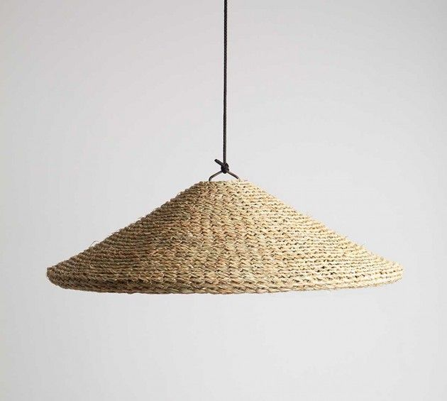 mis-más designs pendant lamps using woven hemp