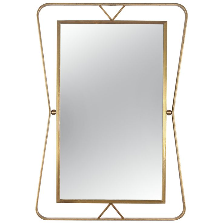 1960's Gilt Iron Mirror By Gilbert Poillerat