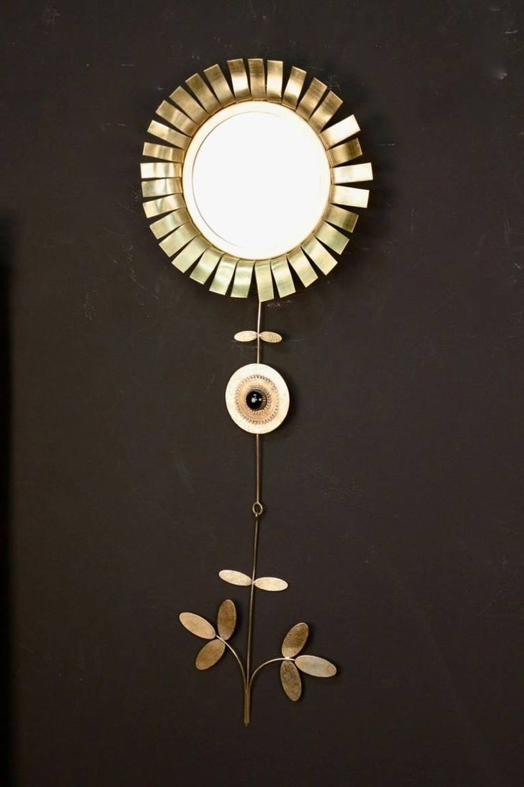 Mirrors home decor 1970s daisy mirror by chaty for Chaty vallauris miroir
