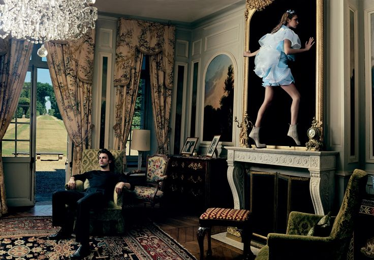 A Look at 24 Fireplaces in _Vogue_. Natalia Vodianova slips through the looking ...