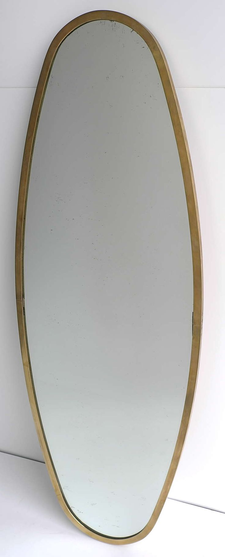 Large Mirror With Brass Rim 1950's