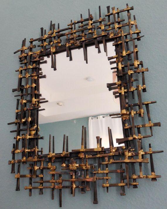 BRUTALIST Wall Mirror, MidCenturyFLA, www.etsy.com/...