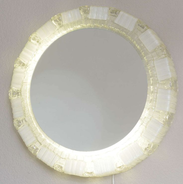 Clear and White Resin Backlit Mirrors | From a unique collection of antique and ...