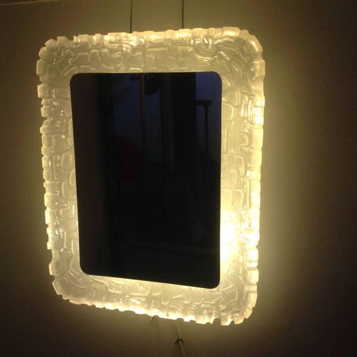 Hoffmann Illuminated Resin Frame Mirror